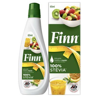 Imagem 1 do produto Adoçante em Gotas Finn Stévia 65ml -