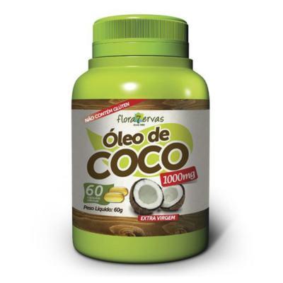 Óleo de Coco Extra Virgem Flora 7 Ervas 60 Cápsulas