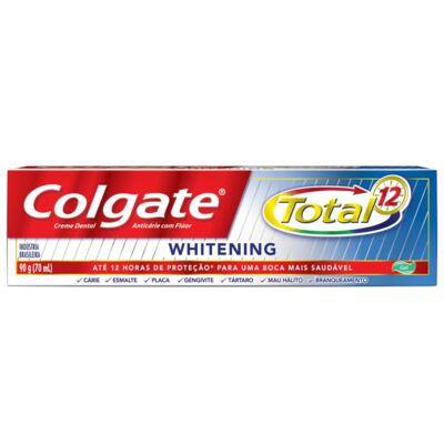 Imagem 3 do produto Creme Dental Colgate Gel Total 12 Whitening 90g