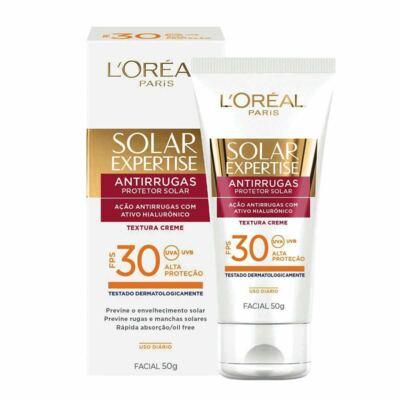 Protetor Solar L'Oréal Expertise Facial FPS 30 50ml