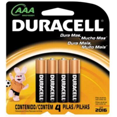 Imagem 1 do produto Pilha Duracell Palito AAA com 4 Unidades