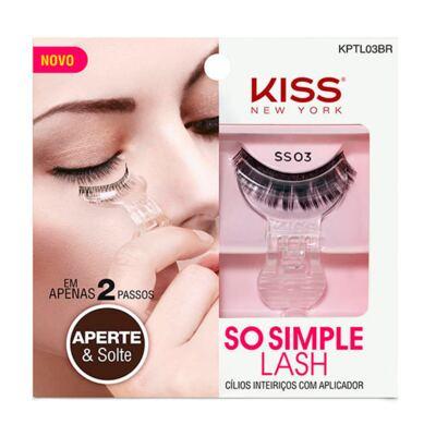 Cílios Postiços Inteiriços Kiss New York SO Simple Lash 03