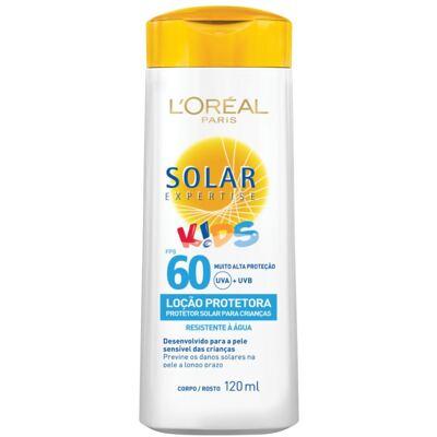 Imagem 1 do produto Protetor Solar L'Oréal Expertise Loção Kids FPS 60 120ml