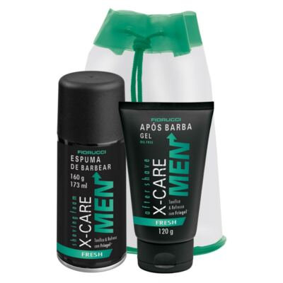 Kit Barba X-Care Men Fresh Espuma de Barbear 160g + Gel Após Barba 120g