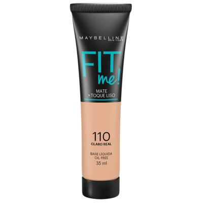 Maybelline Base Líquida Oil Free Fit Me! Cor 110 Claro Real 35ml