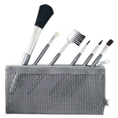 Imagem 1 do produto Kit Pincéis para Maquiagem Mundial + Necessaire 7 Peças