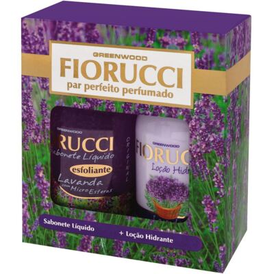 Kit Fiorucci Par Perfeito Lavanda Sabonete Líquido 500ml + Loção Hidratante 500ml