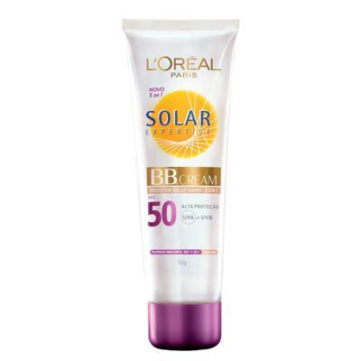 Protetor Solar Facial L'Oréal BB Cream Expertise FPS 50 50g