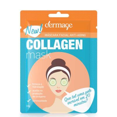 Imagem 2 do produto Kit Máscara Facial de Colágeno Dermage Anti-idade Sachê 10g 3 Unidades