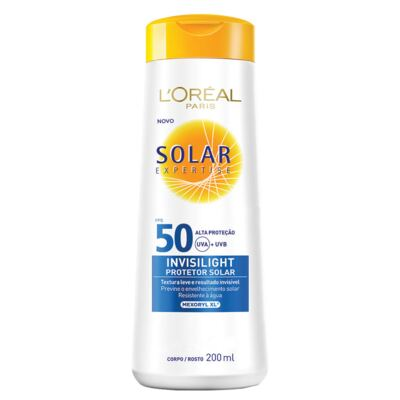 Imagem 1 do produto Protetor Solar L'Oréal Paris Solar Expertise Invisilight Fps 50 - 200ml