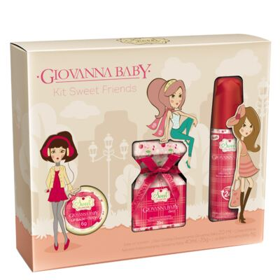 Imagem 1 do produto Kit Sweet Friends Cherry Giovanna Baby - Perfume 20ml + Desodorante 40ml + Lip Balm 6g - Kit