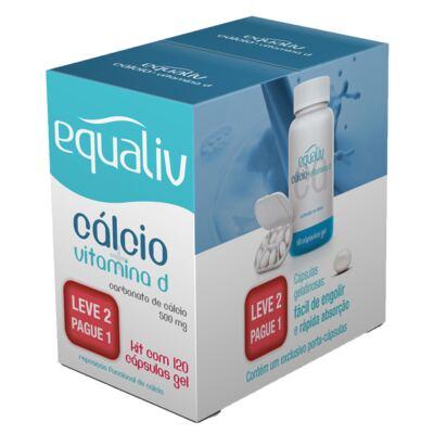 Imagem 1 do produto Cálcio + Vitamina D Equaliv - Suplemento - Kit