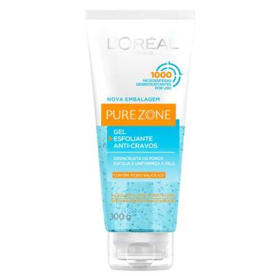 Imagem 2 do produto Esfoliante Facial L'Oréal Paris Gel Esfoliante Anti-Cravos Pure Zone Dermo Expertise - 100g