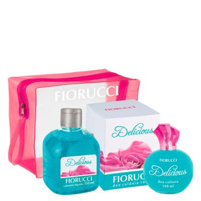 Imagem 1 do produto Delicious Fiorucci - Feminino - Deo Colônia - Perfume + Sabonete Líquido + Necessaire - Kit