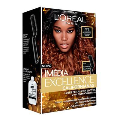 Imagem 1 do produto Tintura para Cabelos L'oréal Paris Imédia Excellence Californianas - 1 - Castanhos escuros e pretos