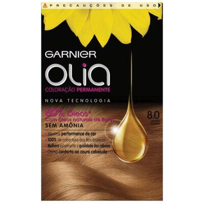 Tintura Garnier Olia 8.0 Louro Claro