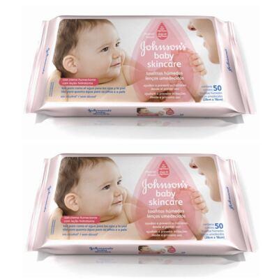 Imagem 1 do produto Lenço Umedecido Johnson´s Baby Skincare 50 2 Unidades
