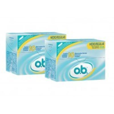 Absorvente Interno O.B. Médio ProComfort 2 Embalagens com 10 Absorventes Cada