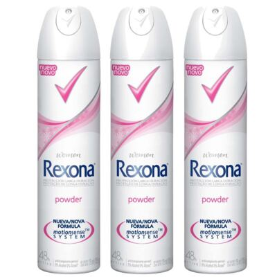 Kit Desodorante Rexona Powder 3 Unidades