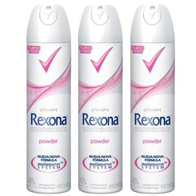 Imagem 1 do produto Kit Desodorante Rexona Powder 3 Unidades