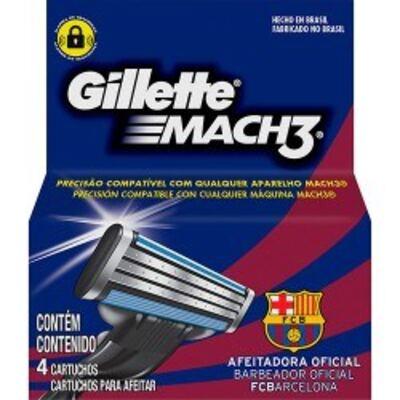 Carga para Aparelho de Barbear Gillette Mach3 Barcelona - 4 unidades