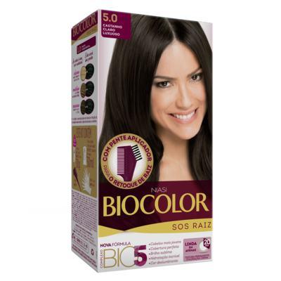 Kit Biocolor Tintura S.O.S Castanho Claro 5.0