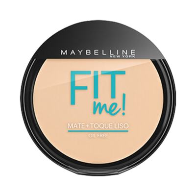 Maybelline Pó Compacto Mate + Toque Liso Fit Me! Cor 100 Claro Sutil