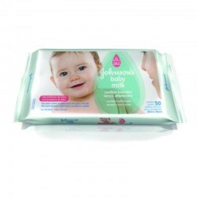 Imagem 1 do produto Lenço Umedecido Johnson´s Baby Milk  50 Unidades