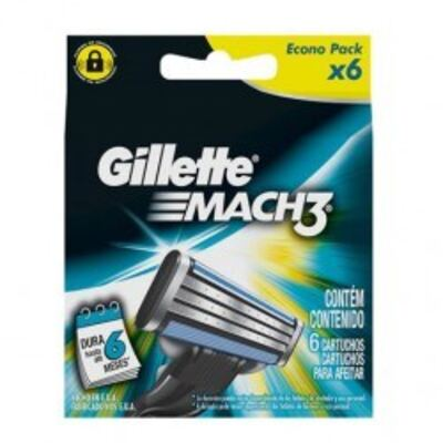 Imagem 3 do produto Carga para Aparelho de Barbear Gillette Mach3 Turbo - 6 unidades