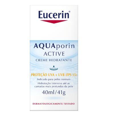 Imagem 6 do produto Eucerin Creme Hidratante Facial Aquaporin Active FPS15 40ml