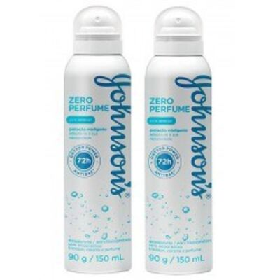 Imagem 1 do produto Desodorante Johnson´s Aerosol Zero Perfume 2 Unidades