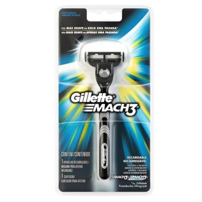 Aparelho Gillette Mach3 Regular 3 Cargas Edição Olympics