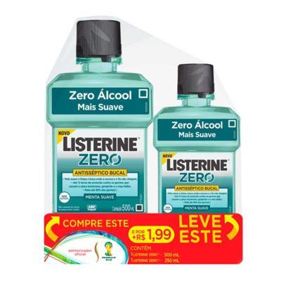 Antisséptico Bucal Listerine Zero 500ml + 250ml Grátis
