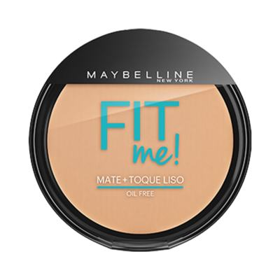 Maybelline Pó Compacto Mate + Toque Liso Fit Me! Cor 140 Claro Singular