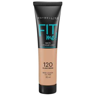 Maybelline Base Líquida Oil Free Fit Me! Cor 120 Claro Ímpar 35ml