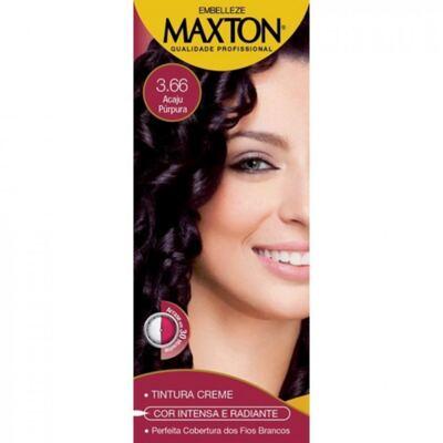 Imagem 2 do produto Kit Maxton Tintura Prático 3.66 Acaju Purpura