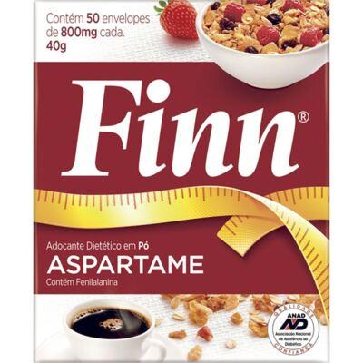 Imagem 1 do produto Adoçante em Pó Finn Aspartame 8g C/ 50 Envelopes