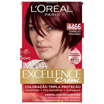 Imagem 1 do produto Tintura para cabelo Imédia L'Oréal 4466 Vermelho Profundo -