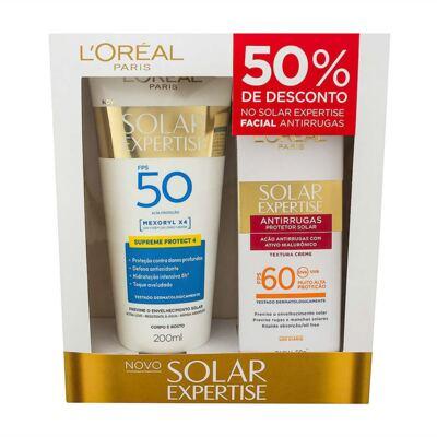 Kit L'Oréal Expertise Supreme Protetor Solar FPS 50 200ml + Protetor Facial FPS 60 50ml