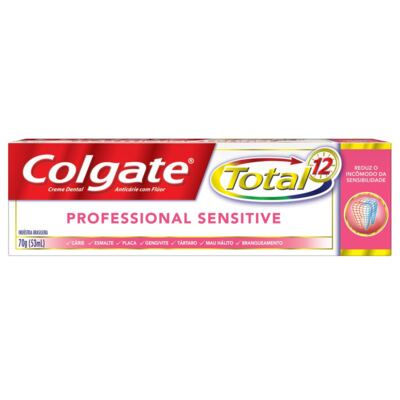Imagem 2 do produto Creme Dental Colgate Total 12 Professional Sensitive - 70g