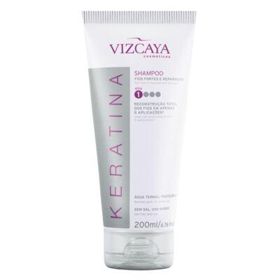 Imagem 5 do produto Shampoo Keratina Vizcaya 200ml + Condicionador Keratina Vizcaya 150ml