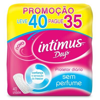 Absorvente Íntimus Days Sem Perfume 40 Unidades