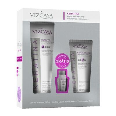 Imagem 1 do produto Kit Reconstrução Capilar Vizcaya Shampoo + Condicionador + Keratina Líquida