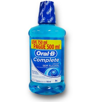 Kit Antisséptico Complete Oral B 500ml Grátis 250ml