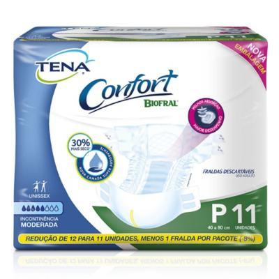 Imagem 2 do produto Kit Tena Fralda Geriátrica Confort Biofral Unissex P 33 Unidades + Toalha Umedecida 40 Unidades