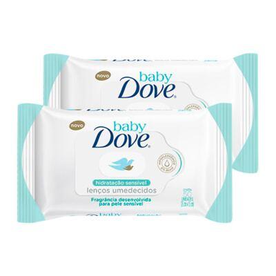 Kit Lenço Umedecido Dove Baby Hidratação Sensível 100 Unidades