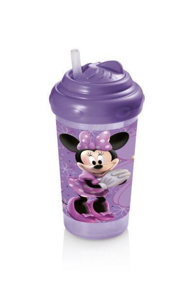 Imagem 1 do produto Copo com Canudo de Silicone 300ml Minnie Multikids Baby - BB083