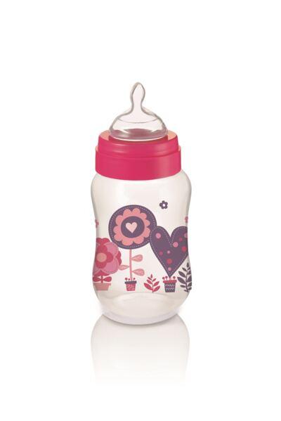 Imagem 1 do produto Mamadeira Boys & Girls Pp Rosa Ortonatural 250Ml Multikids Baby - BB106