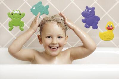 Imagem 1 do produto Mini Tapetes para Banho Bath & Fun 4 Pcs Multikids Baby - BB195