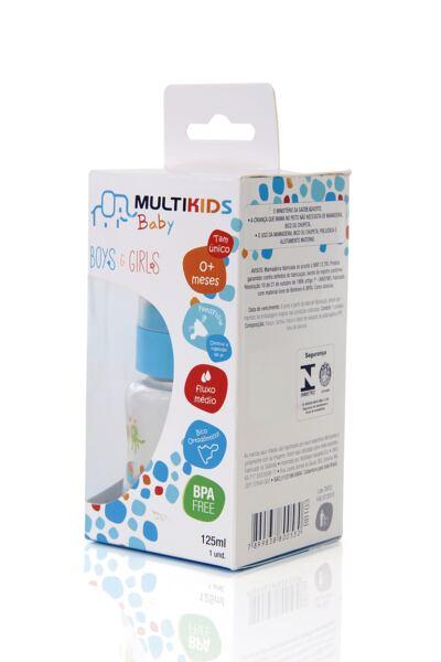 Imagem 3 do produto Mamadeira Boys&Girls Pp Azul Ortonatural 125Ml Multikids Baby - BB103